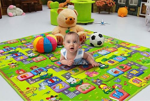 Thảm xốp giúp bảo vệ sức khỏe cho bé