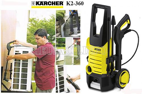 Ứng dụng của máy rửa xe Karcher k2 360 trong cuộc sống