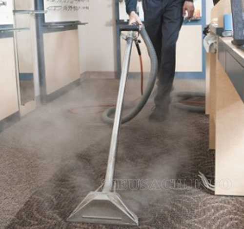 Giặt thảm văn phòng bằng thiết bị chuyên dụng