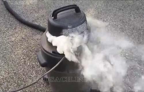 Máy hút bụi bị cháy