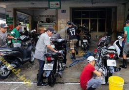 Cửa hàng rửa xe máy chuyên nghiệp