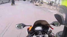 Xe máy bị rung tay lái là rất nguy hiểm