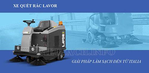 Máy quét rác Lavor được sử dụng phổ biến