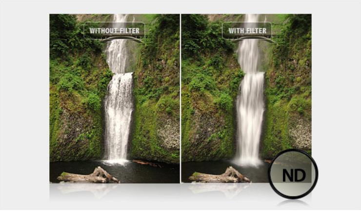Neutral-density filter giúp giảm sáng cho ảnh