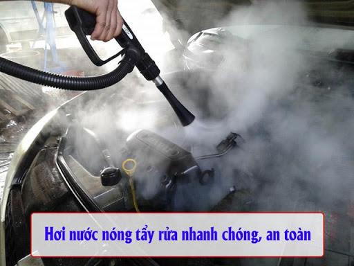 Máy rửa xe hơi nước nóng cho hiệu quả tẩy rửa cao