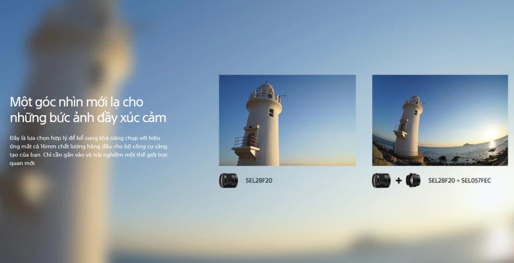 Lens Fish Eys tạo ra hiệu ứng hình ảnh đặc biệt