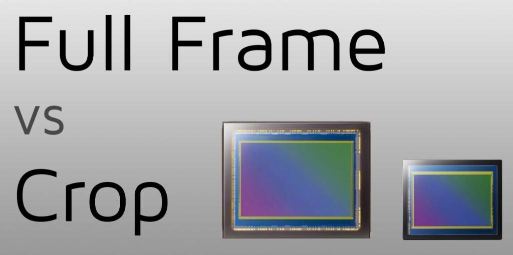Cảm biến Full Frame và Crop