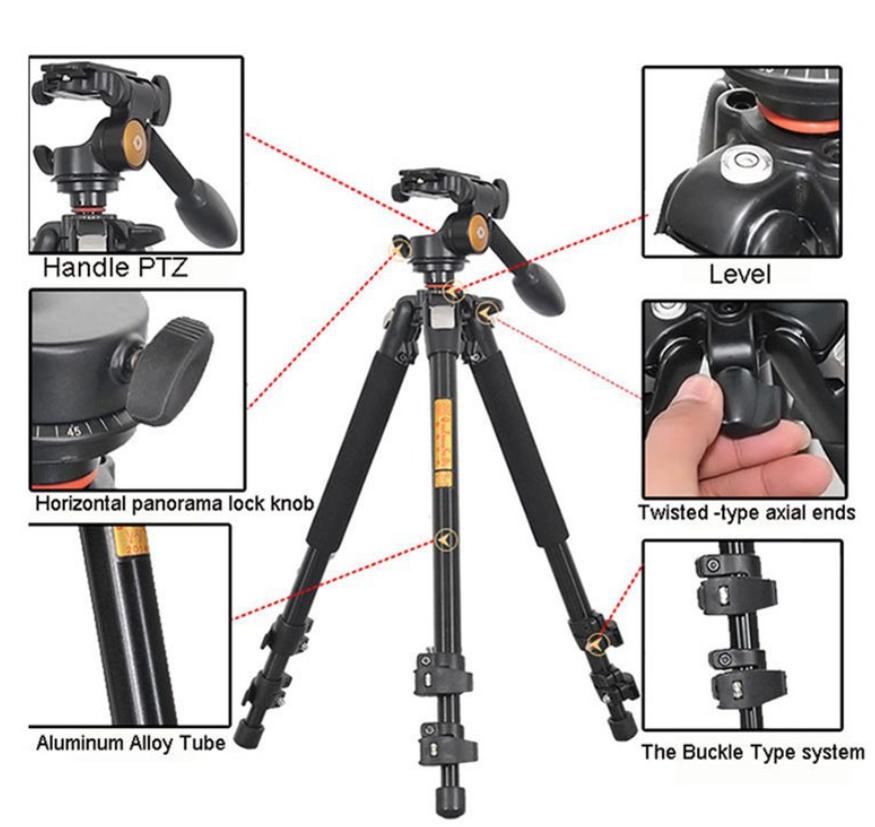 Chân máy ảnh gồm có hai phần chính