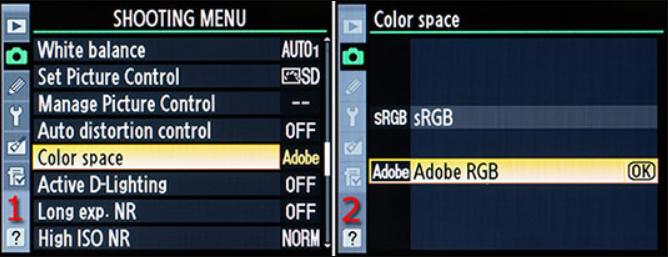 Cài đặt hệ màu của máy ảnh Nikon