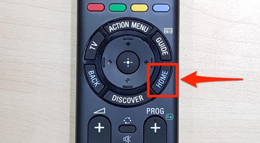 """Nhấn chọn nút """"HOME"""""""