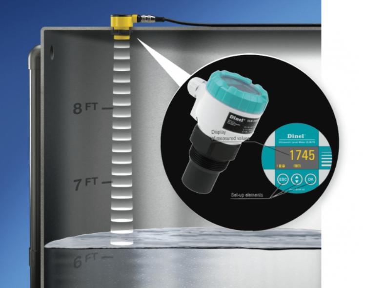 Cảm biến siêu âm được dùng để đo mức nước