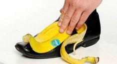 cách đánh giày bằng vỏ chuối