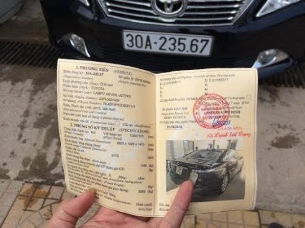 đăng kiểm của xe ô tô 5 chỗ
