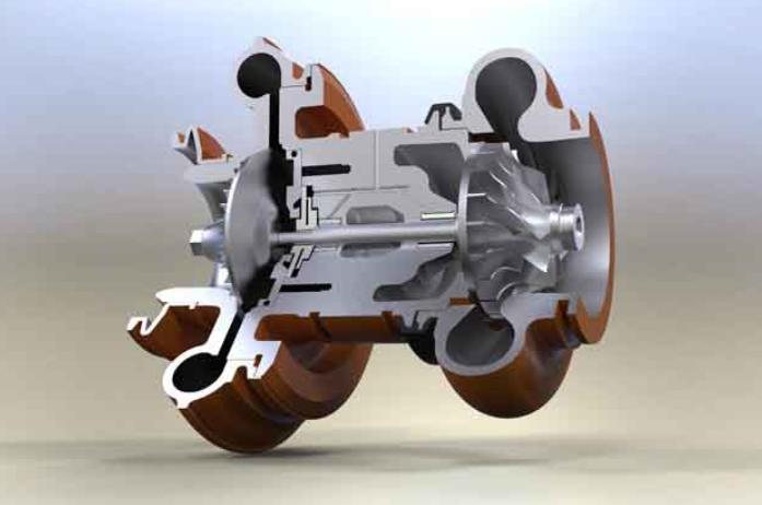 Cấu tạo động cơ tăng áp (Turbocharger)
