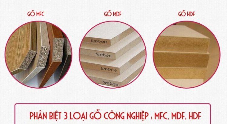 Phân biệt các loại gỗ công nghiệp MFC và MDF