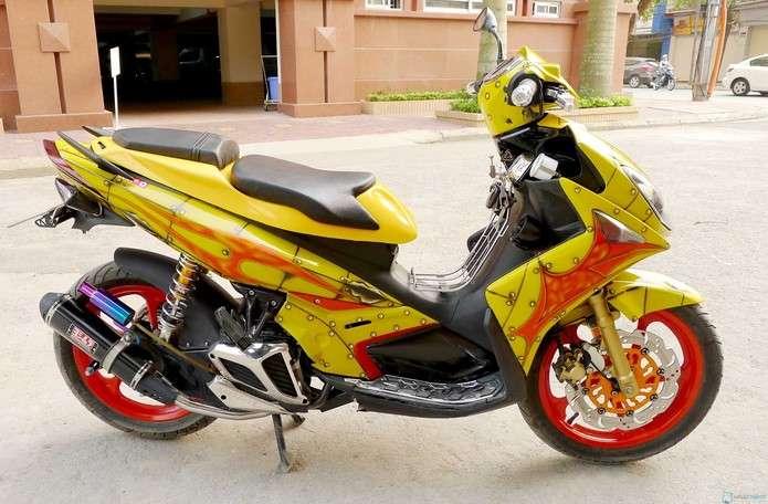 Mức phạt thay đổi kết cấu xe máy