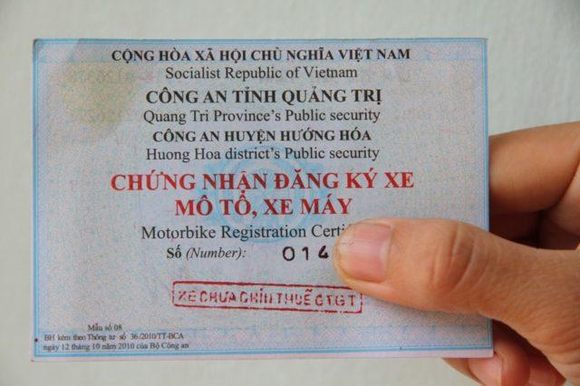Đối với một số nơi CSGT sẽ yêu cầu phải làm đơn cớ mất giấy đăng ký xe