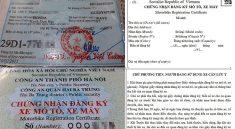 Người đến đăng ký xe cần phải xuất trình giấy chứng minh thư nhân dân