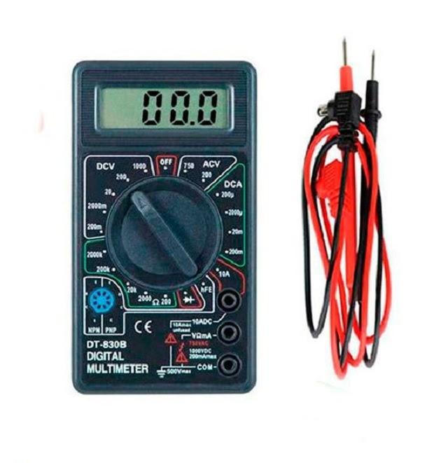 Đồng hồ vạn năng được sử dụng để đo dòng điện 1 chiều