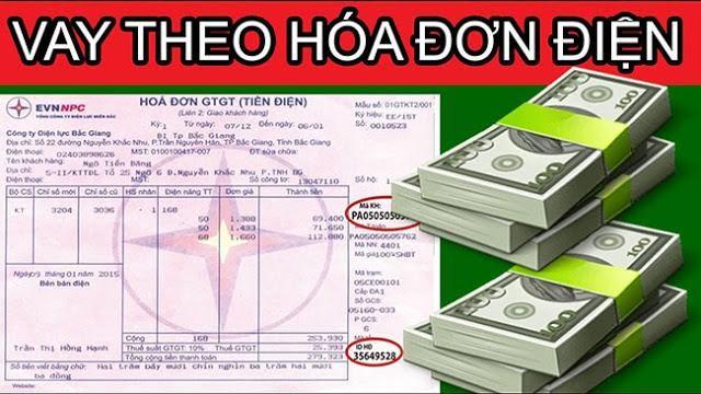 Hình thức vay tiền theo hóa đơn tiền điện dần phổ biến