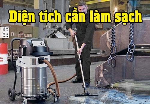 Diện tích sàn cần vệ sinh