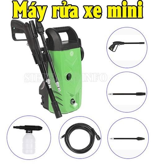 Máy nén rửa xe mini có cấu tạo đơn giản