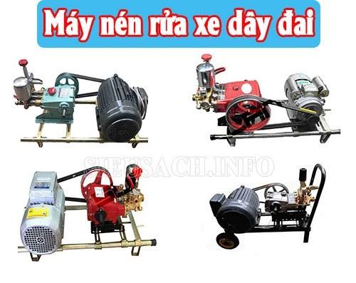 Một số model máy nén rửa xe dây đai