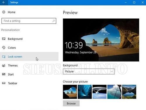 Khóa màn hình thông qua tính năng bảo vệ màn hình