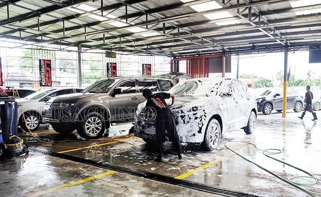 Kinh doanh rửa xe đang ngày càng được ưa chuộng