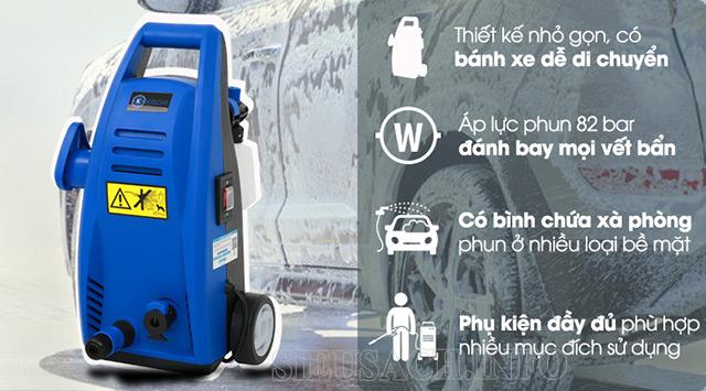 Những ưu điểm nổi bật của dòng máy phun rửa xe gia đình