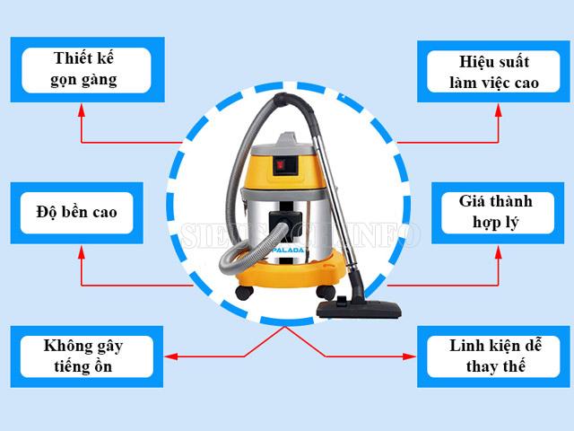Máy hút bụi công nghiệp Palada PD15A – lựa chọn phù hợp để vệ sinh sàn gỗ