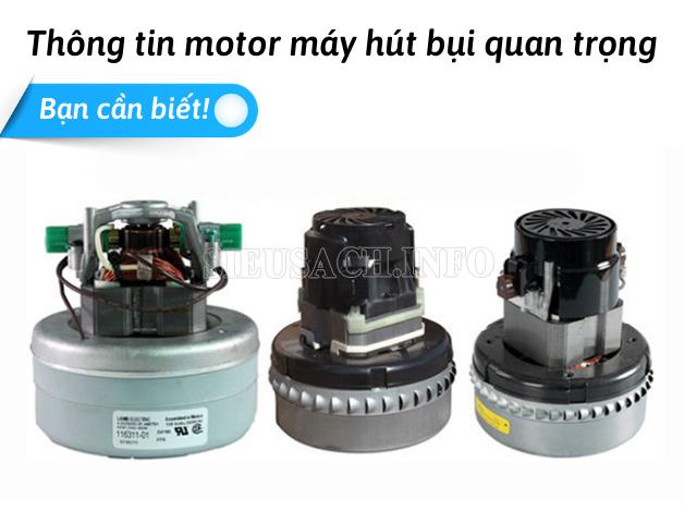 Đặc điểm của motor máy hút bụi nói chung