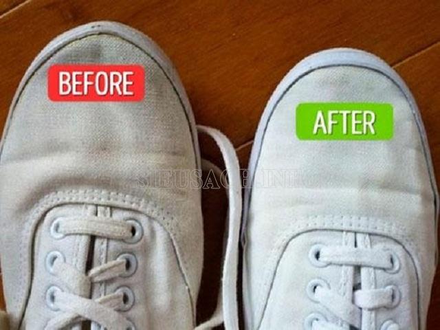 làm sạch giày vải đúng cách