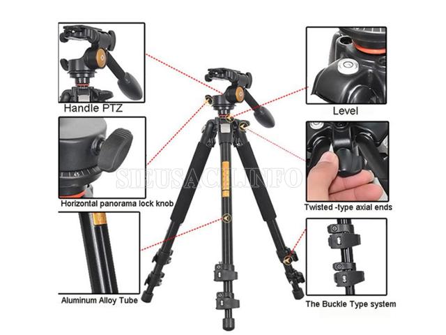 cấu tạo tripod máy ảnh