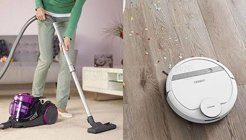 Robot hút bụi lau sàn dần được sử dụng thay thế cho máy hút bụi gia đình