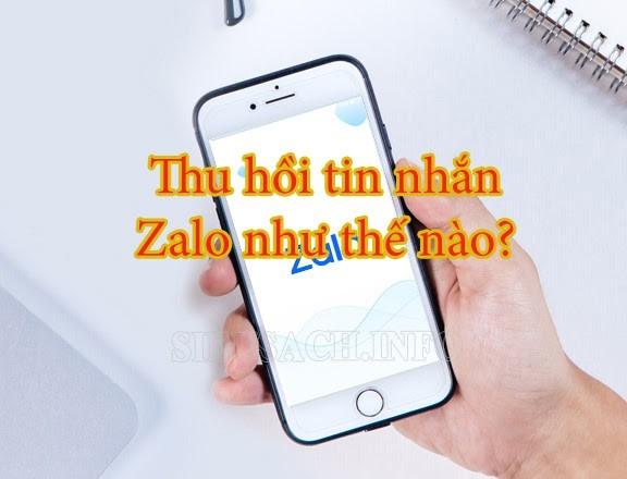 Thu hồi và xóa tin nhắn đã gửi trên Zalo