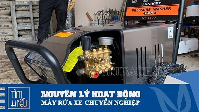 Nguyên lý hoạt động của máy xịt rửa xe chuyên nghiệp