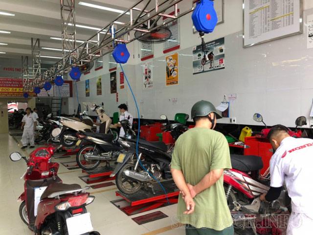 Bảo dưỡng xe máy Honda tại cơ sở uy tín