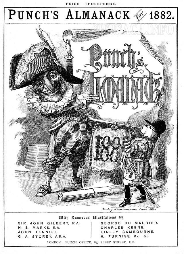 Ảnh bìa tạp chí Punch được John Tenniel vẽ năm 1882