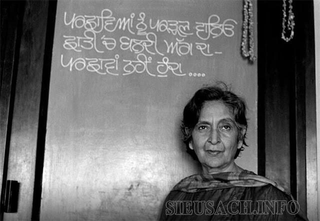 Amrita Pritam nhận được nhiều giải thưởng nhờ cống hiến to lớn cho nền văn học