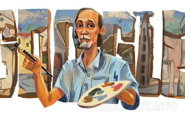 Bức tranh Google vinh danh họa sĩ Bùi Xuân Phái