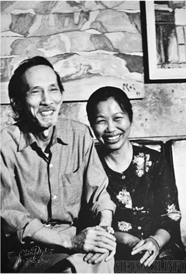 Họa sĩ Bùi Xuân Phái và vợ