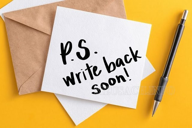 P/S và PS có ý nghĩa tương tự nhau trong viết thư