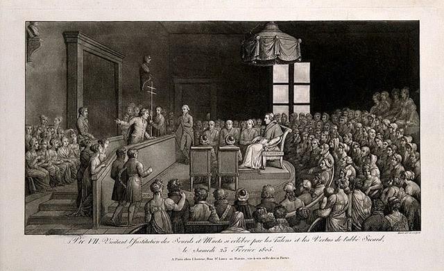 Trường Institution Nationale des Sourds-Muets à Paris trong chuyến thăm của Giáo hoàng Pius VII