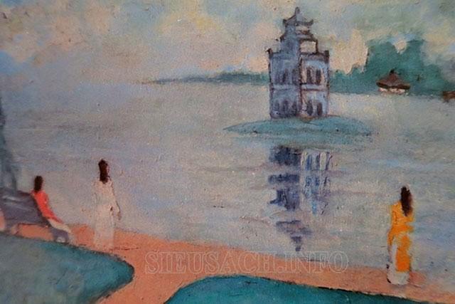 Tranh Bùi Xuân Phái vẽ về Hồ Gươm