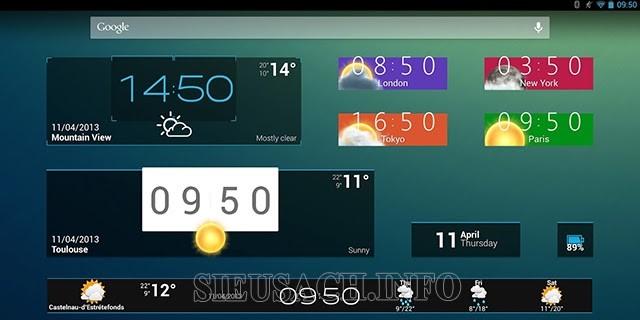 Widget trên điện thoại Android