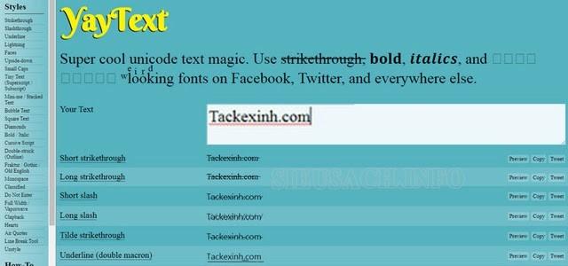 YayText - Công cụ viết chữ in đậm trên facebook