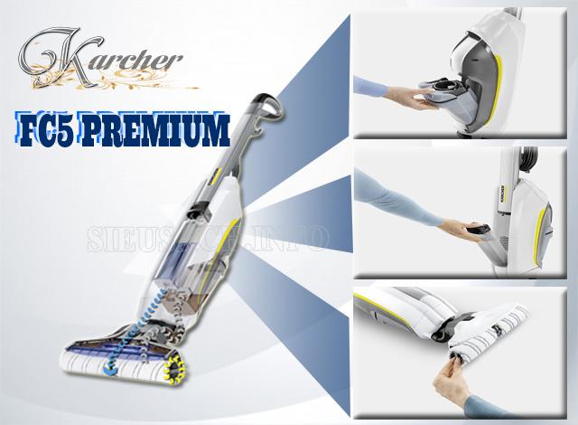 Thiết kế tiện dụng của máy lau sàn nhà Karcher FC5 Premium