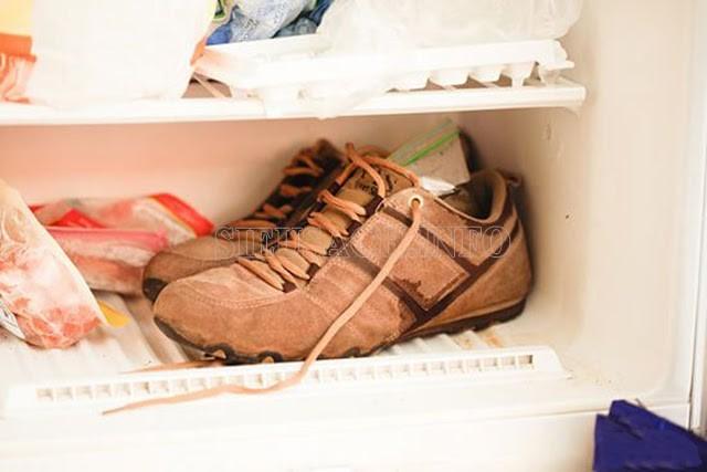 Bạn nhớ buộc giày thật chặt và kỹ trước khi cho vào tủ lạnh nhé!