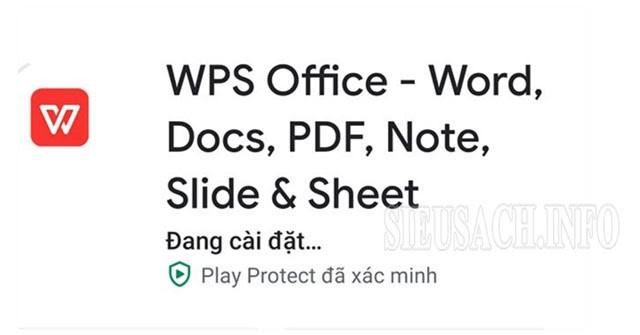 Cài đặt WPS Office